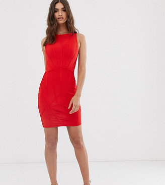 Lipsy bandage mini dress in red