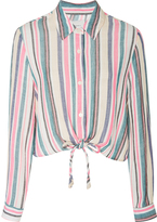 Solid & Striped Taylor Striped Crop Shirt