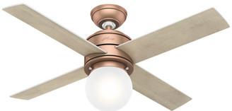 "Hunter 44"" Hepburn Satin Copper Ceiling Fan w/ Light Kit & Wall Contro"