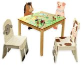 Teamson Fantasy Fields Happy Farm 5-Piece Table and Chairs Set