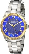 Stuhrling Original Women's 743.03 Vogue Audrey Shimmer Swiss Quartz Gold Tone Stainless Steel Bracelet Watch