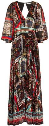 Alice + Olivia Cheney printed chiffon maxi dress