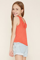 Forever 21 FOREVER 21+ Girls Fringe-Back Top (Kids)