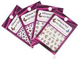 Adhesive Nail Art Stickers Set - Heart & Love Collection
