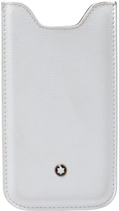 Montblanc White Leather Meisterstuck Phone Case