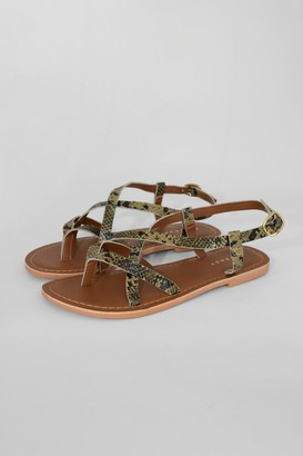 Topshop HAZY Green Leather Sandals