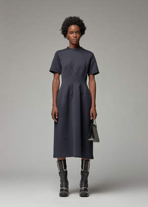 Marni Women's Jersey Short Sleeve Dress in Deep Blue Size 38 Cotton/Nylon
