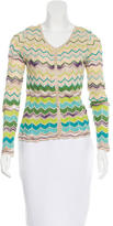 M Missoni Chevron Button-Up Cardigan