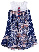 Iris & Ivy Dot To Bandana Americana Dress (Toddler & Little Girls)