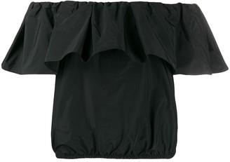 Pinko Benson off-the-shoulder taffeta top
