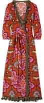 Rhode Resort - Lena Tasseled Printed Cotton-voile Maxi Dress - Red