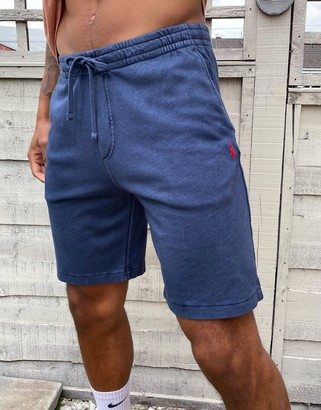 Polo Ralph Lauren player logo lightweight terry loopback sweat shorts in washed navy