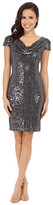 Badgley Mischka Cocktail Cowl Front Dress