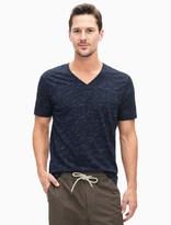Splendid Slub Knit Short Sleeve V-Neck