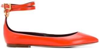 Valentino Garavani pointed toe ankle strap ballerinas