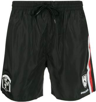 Diesel side stripe swim trunks