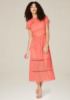 Bebe Jenna Geo Eyelet Maxi Dress