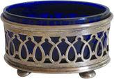 One Kings Lane Vintage Sterling Silver & Cobalt Glass Salt Dish