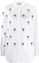 No.21 Crystal-Embellished Shirt