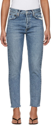 AGOLDE Blue Jamie High-Rise Classic Fit Jeans