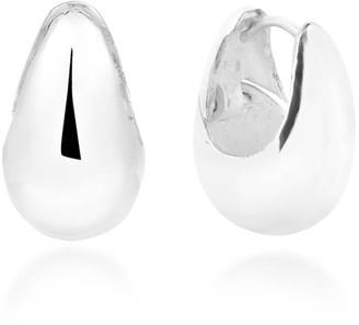 Aeravida Handmade Elegant Teardrop Basket 16mm Sterling Silver Hoop Earrings