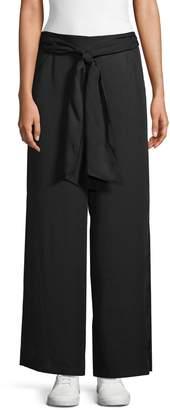 Max Studio Tie-Front Wide-Leg Pants
