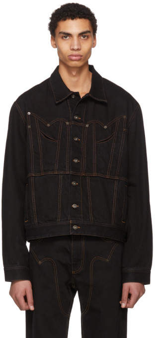 Y/Project Black Western Denim Jacket