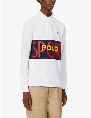 Polo Ralph Lauren Logo-print cotton-jersey rugby shirt