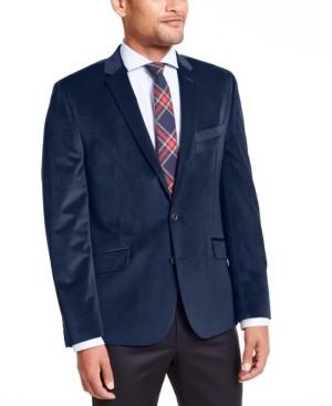 Billy London Men's Slim-Fit Velvet Sport Coat