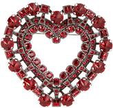 Lanvin Heart crystal-embellished brooch