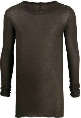 Rick Owens long-sleeved cotton T-shirt