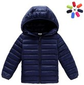Zhuhaixmy Kids Hooded Colorful Down Feather Jacket Lightweight Warm Coat