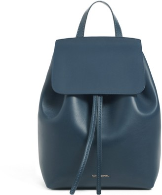 Mansur Gavriel Mini Backpack - Black/Ballerina