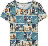 Paul Smith Blue Astronaut Comic Print T-Shirt