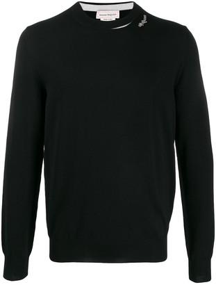 Alexander McQueen logo patch knitted jumper
