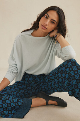 Anthropologie Alani Cashmere Mock Neck Sweater By in Grey Size S P