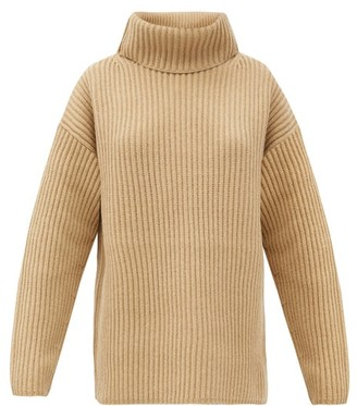 Joseph Brioche-stitched Wool Roll-neck Sweater - Camel