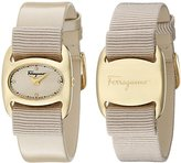 Salvatore Ferragamo Women's FIE030015 Varina Beige Watch With interchangeable Band