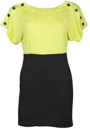 Charlotte Russe Buttoned Colorblock Dress