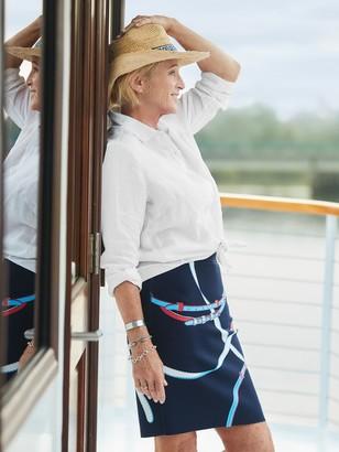 J.Mclaughlin Mary Raffia Hat in Greek Key