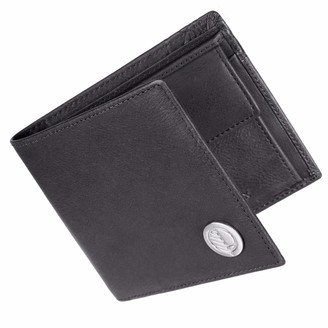 Drew Lennox Luxury English Leather Men's Billfold Wallet In Charcoal Black