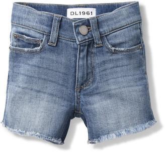 DL1961 Lucy Frayed Cutoff Shorts, Size 7-16