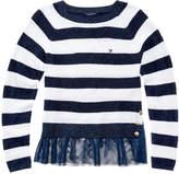 Tommy Hilfiger Glitter Stripe Sweater, Big Girls