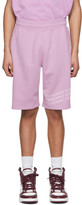 Givenchy Purple Logo Wave Shorts