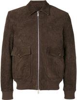 Eleventy long sleeve jacket - men - Suede/Cupro - 48