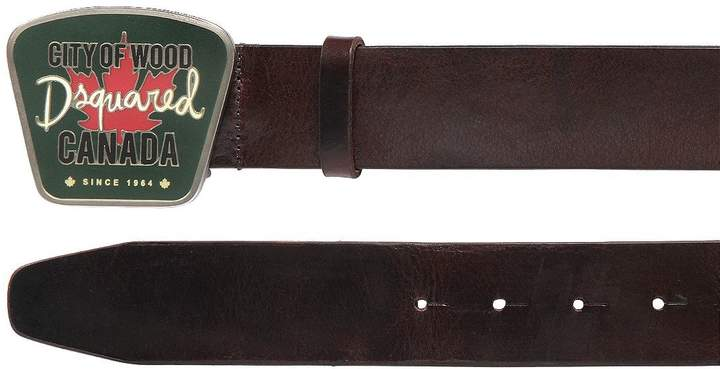 DSQUARED2 40mm Canada Buckle Leather Belt