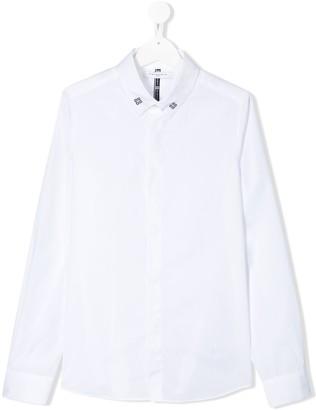 Givenchy Kids TEEN logo collar shirt