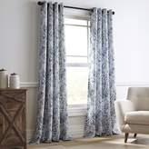 Pier 1 Imports Floral Paisley Blue Grommet Curtain