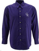 Antigua Men's Long-Sleeve Colorado Rockies Button-Down Shirt