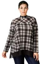 Style&Co. Plaid Mock-neck Tunic.